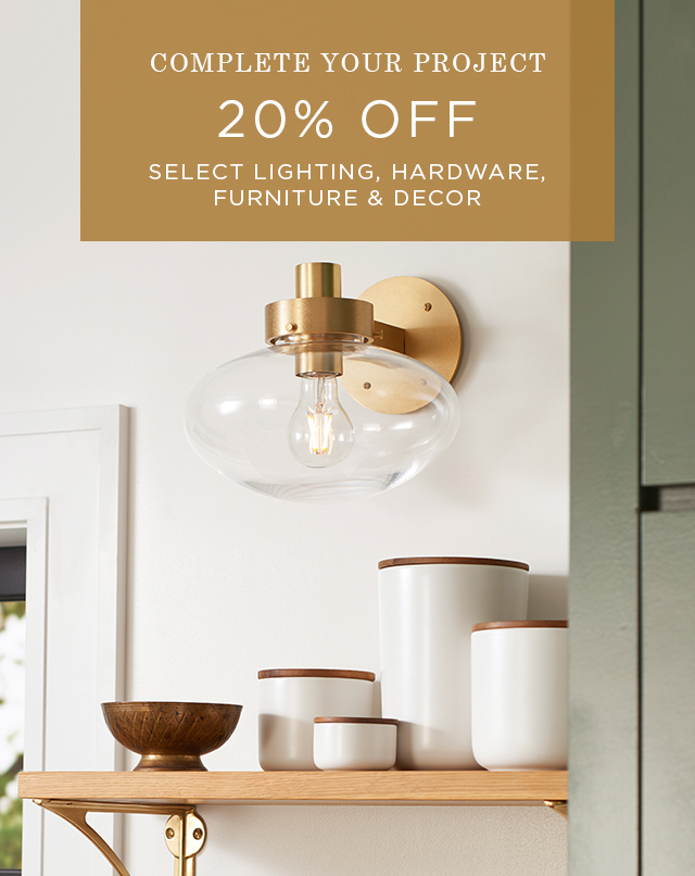 20% Off Complete Your Project