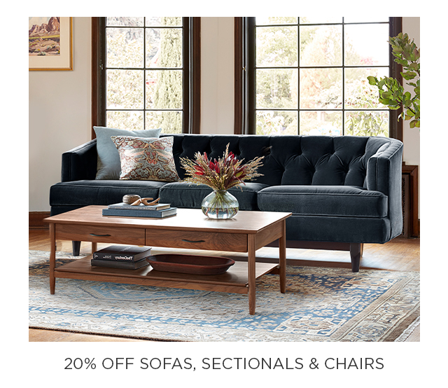 20% Off Sofas, Sectionals & Chairs