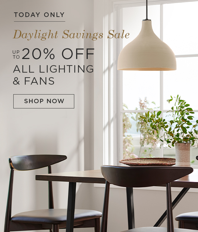 up to 20% Off All Lighting & Fans