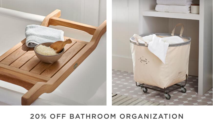 20% Off Bathroom Organization