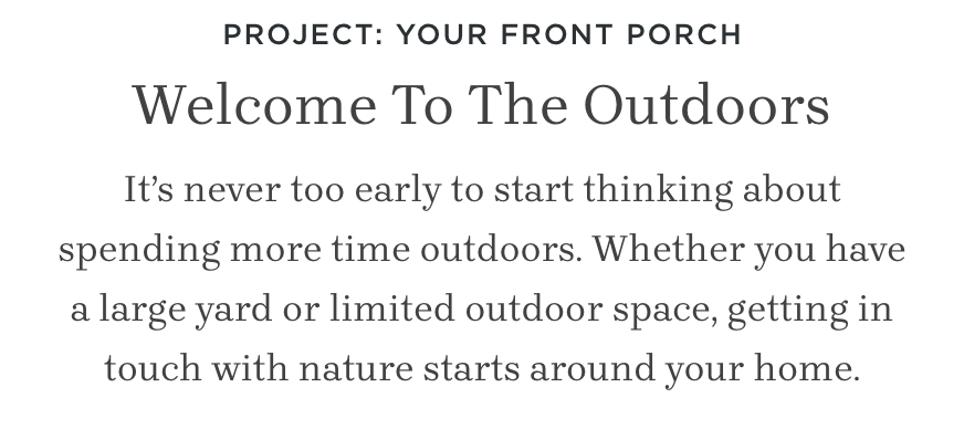 Project: Your Front Porch
