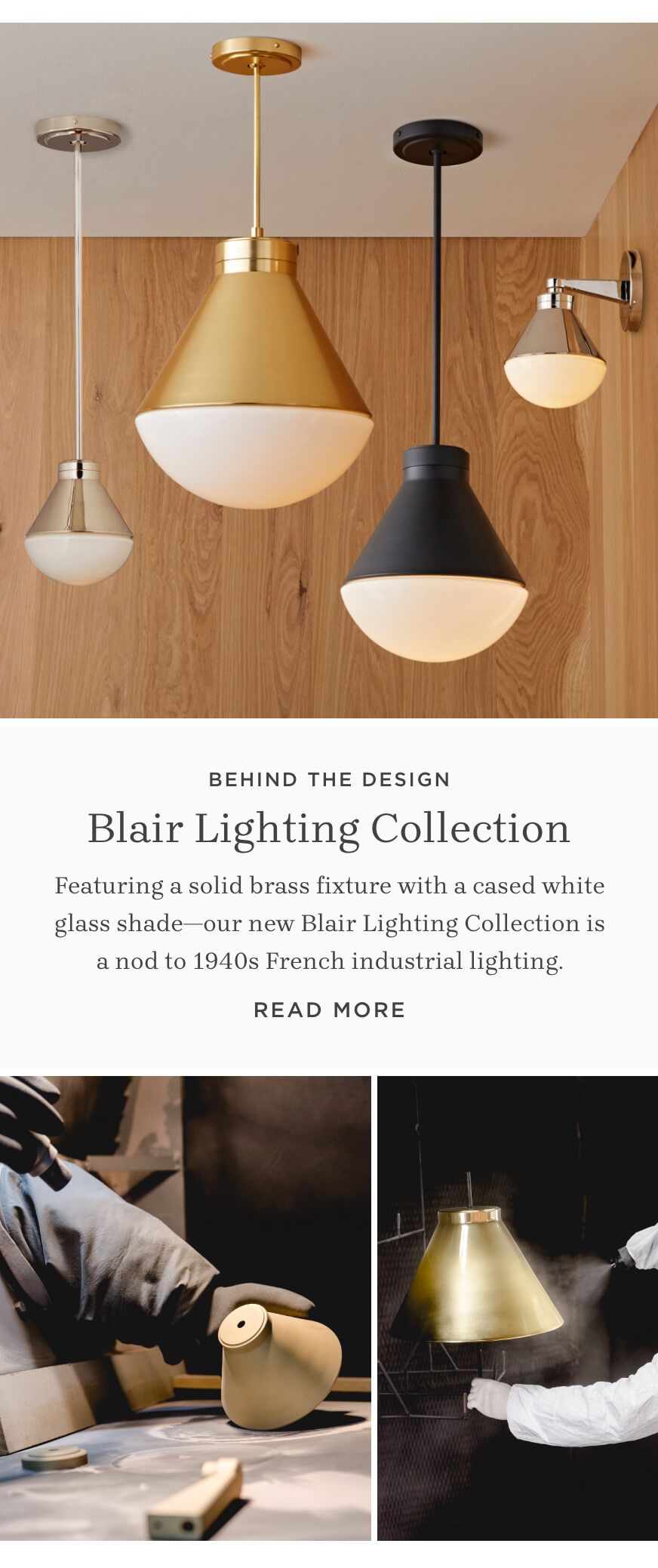 Behind the Design: Blair Lighting Collection