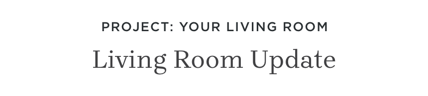 Project: Your Living Room