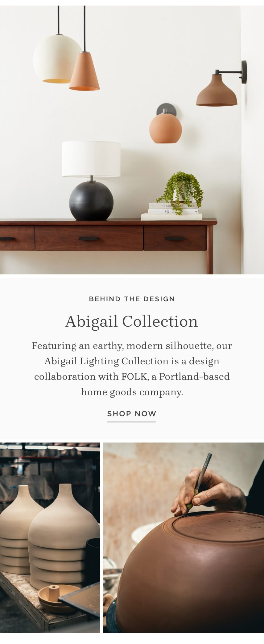 Shop the Abigail Lighting Collection
