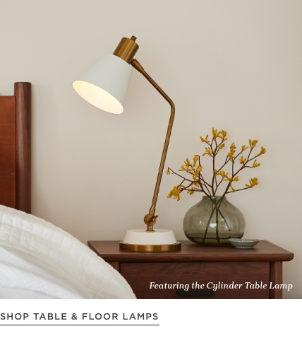 Shop Table and Floor Lamps