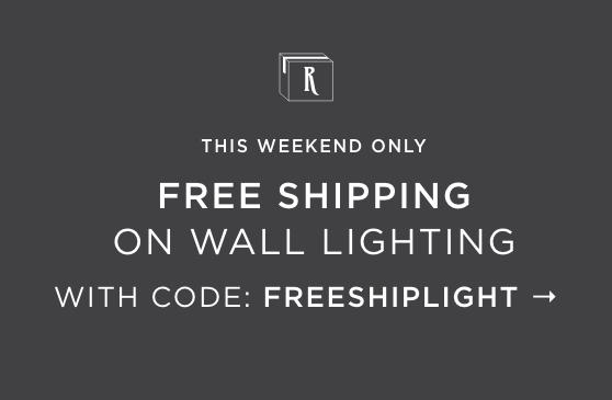 Free Shipping on Wall Lighting with code: FREESHIPLIGHT