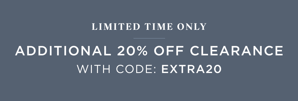 Additional 20% Off Clearance with code: EXTRA20