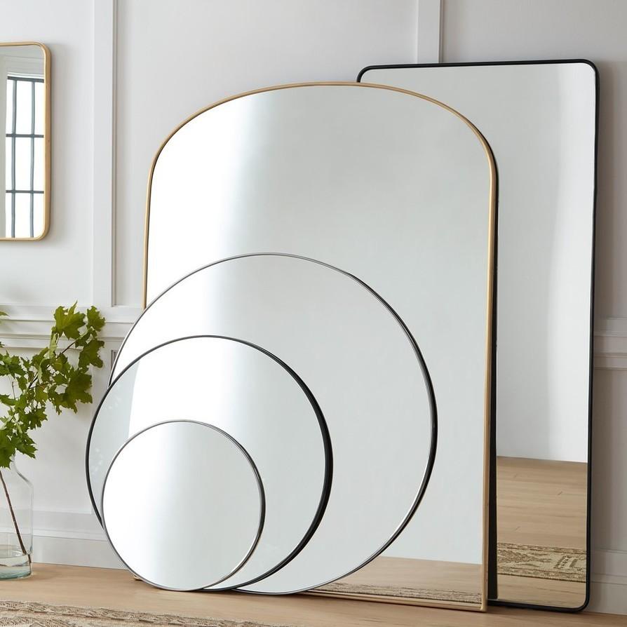 Mirrors classicmetal decor utility sqr
