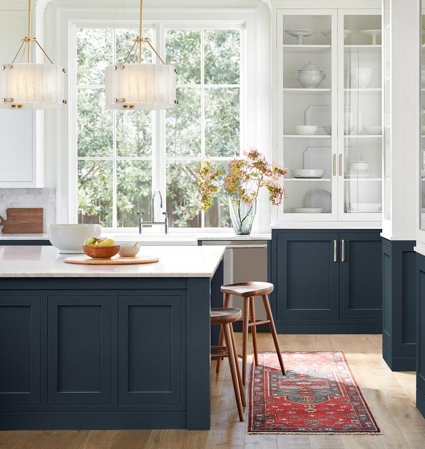 Kitchen willamette pendant runner rug stools sqr